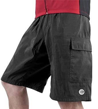 Mens ATD Cargo Short Baggy Padded Mountain Bike Cycling Shorts by Aero Tech Designs