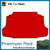 TOYOTA CELICA BOOT MAT CAR MATS TO FIT 1999-2006 PREMIUM RED (BLUE STRIPED TRIM)