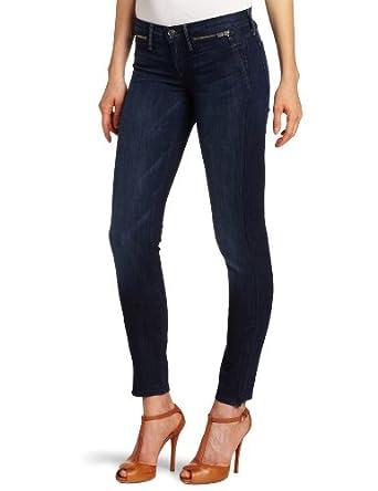疯抢)7 For All Mankind Women's Zipper Details Skinny Jean女士牛仔裤$70.53