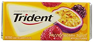 Trident  Passionberry Twist, 18-Count Package (pack of 12)