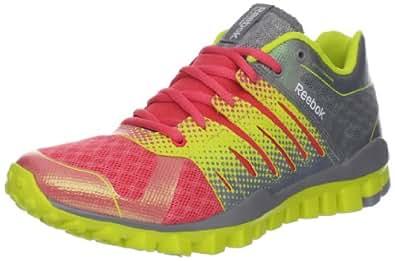 Reebok Women's RealFlex Strength TR Training Shoe,Flat Grey/Solar Green/Coral Contrast,6.5 M US
