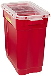 BD 305616 Red Base Extra Large Sharp Collector with Natural Slide Top, 9 gallon Capacity, 17-3/4\