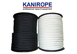 Polyesterseil 4mm Meterware weiß 8-fach geflochten Polyester Seil UV - beständig wasserfest Flechtleine Leine Schnur