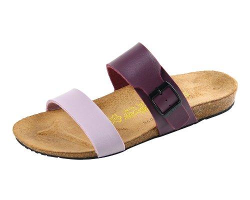 Devo Ladies Girls Stylish Two Strap Leather & Cork Summer Beach Sandal Flip Flops