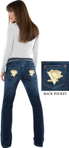 Pittsburgh Penguins Women's Denim Jeans - by Alyssa Milano at Amazon.com