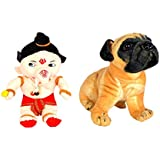 Alexus Soft Toy Combo Of Bal Ganesh And Caterpillar