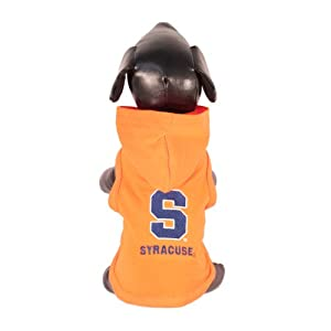 NCAA Syracuse Orange Cotton Lycra Hooded Dog Shirt, XX-Small by All Star Dogs