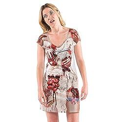 Ladies Zombie Bloody Bride Wedding Dress T-Shirt