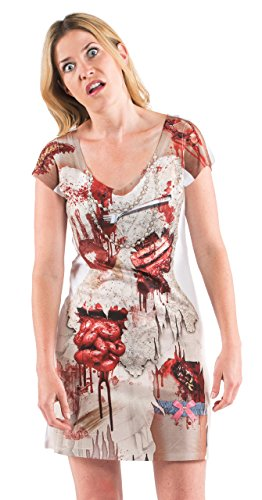 Ladies Zombie Bloody Bride Wedding Dress T-Shirt