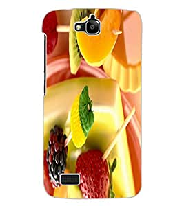 ColourCraft Fruits Design Back Case Cover for HUAWEI HONOR HOLLY