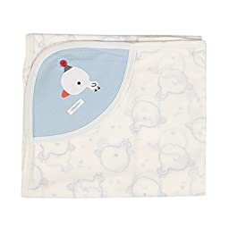 Duck Jacquard nursery-receiving-blankets Baby Swaddle Blue