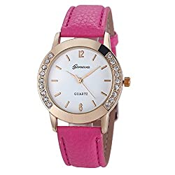 Geneva Platinum Analog White Dial Womens Watch - GP-002