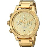 Nixon Men's A486502 48-20 Chrono Watch (Color: Gold-Tone, Tamaño: One Size)