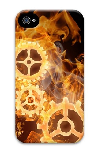 iPhone 4S Cases & Covers - Wheels On Fire 3D Design Custom PC Hard Case Cover Compatible with iPhone 4S and iPhone 4