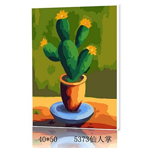 Cactus--New DIY Digital Oil Painting Paint By Number Kit Wall decoration 1620 Inch (Paint By Number Cactus compare prices)