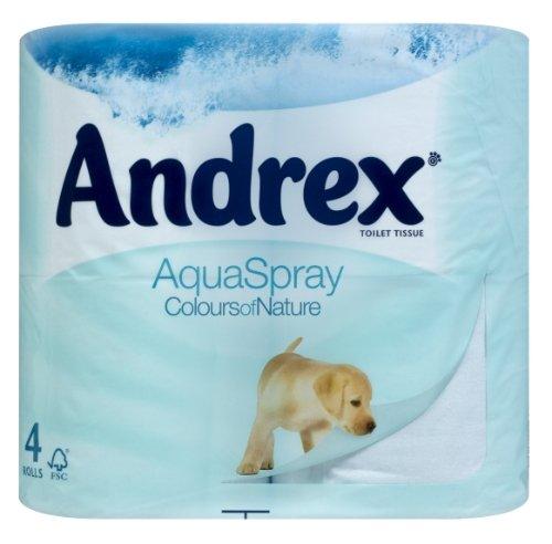 Andrex Toilet Tissue Rolls Aqua Spray (10 x 4 pack)