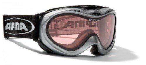 Skibrille Alpina Genetic mit Quattroflex NEU silber A70050