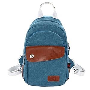 Smartstar Neust Vintage Design Damen Herren Casual Fashion Canvas Jeans Schultaschen Rucksack Für Schule Sport Freizeit Reise (Größe S-Jeans Blau)