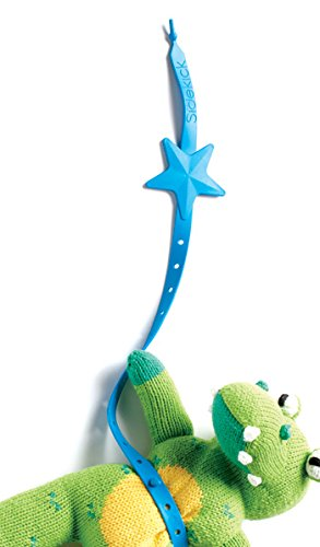 Lil' Sidekick - Safe Utensil and Toy Leash for High Chair, Stroller or Carseat - Adjustable & Sanitary - Blue