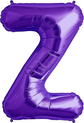Letter Z - Purple Helium Foil Balloon - 34 inch - 1