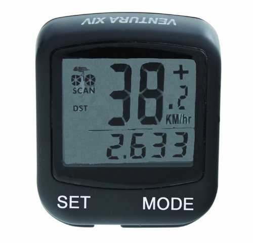 Buy Low Price Ventura Wireless 14 Function Bicycle Computer (Black) (B007Y5FDK6)