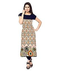 Saiveera Fashion New Arrival Women's Crepe Long Kurtis (VAT160_MultiColoured_Large)