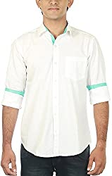 Lapilvi Men's Slim Fit Casual Shirt (lpb0013_white_x-large, White, X-Large)