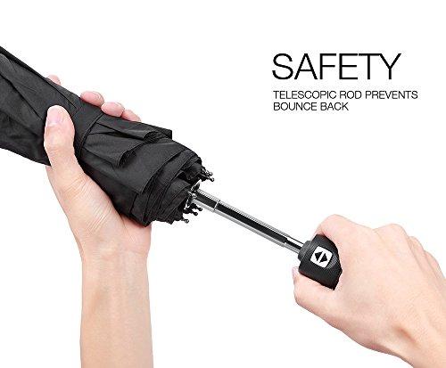 PLEMO Paraguas Paraguas Automáticos Paragua 45 pulgadas,Color Negro