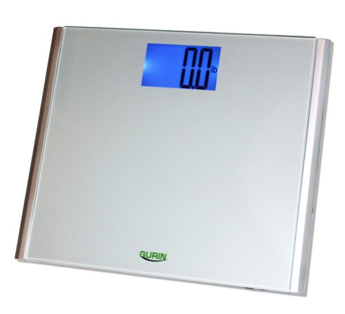 Gurin Precision Digital Bathroom Scale with Ultra Wide Platform and Auto-on Technology, 440-Pounds