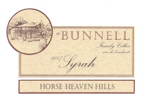 2007 The Bunnell Family Cellar Horse Heaven Hills Syrah 750 Ml