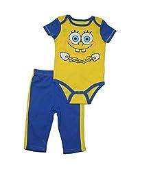 Spongebob Squarepants Baby Boys' Onesie Set 2 pc (3/6 Months)