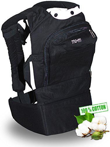 Sale!! Best Baby Carrier - The Mo+m Carrier - Soft Structured & Ergonomic Baby Sling - Neutral B...