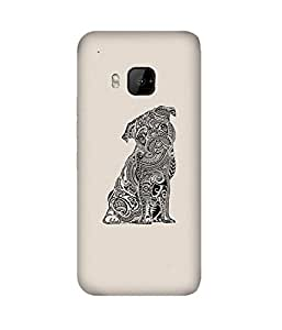 Doodle Pug HTC One M9+ Case