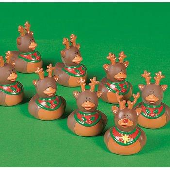 Vinyl Reindeer Rubber Duckys