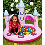 Princess Ball Pit+ bag of 100 multi-coloured plastic play balls