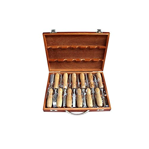Cxuan E02 12-Piece Professional Carving Tools Wood Carving Hand Chisel Tool Set DIY Carving Knife