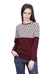 Kalt Women's Cotton Sweater (W139 S _Small_Maroon)