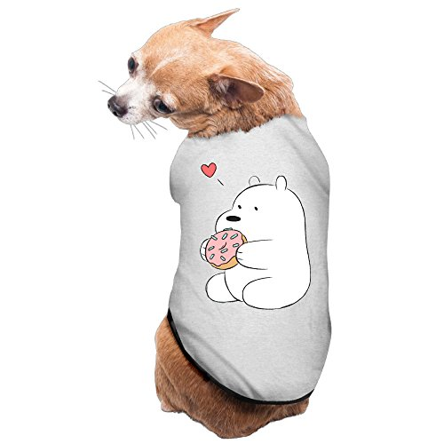 [We Bare Bears Anime Ice Bear Heart Puppy Dog Costume] (Gill Man Costume)