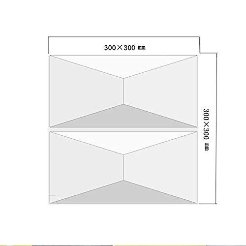 Carrelage-yazi-4-pices-Revtement-mural-3D-Planche-Panneau-en-PVC-Papier-peint-Dcoration-pour-store-Shop-300-x-300-mm-16-couleur