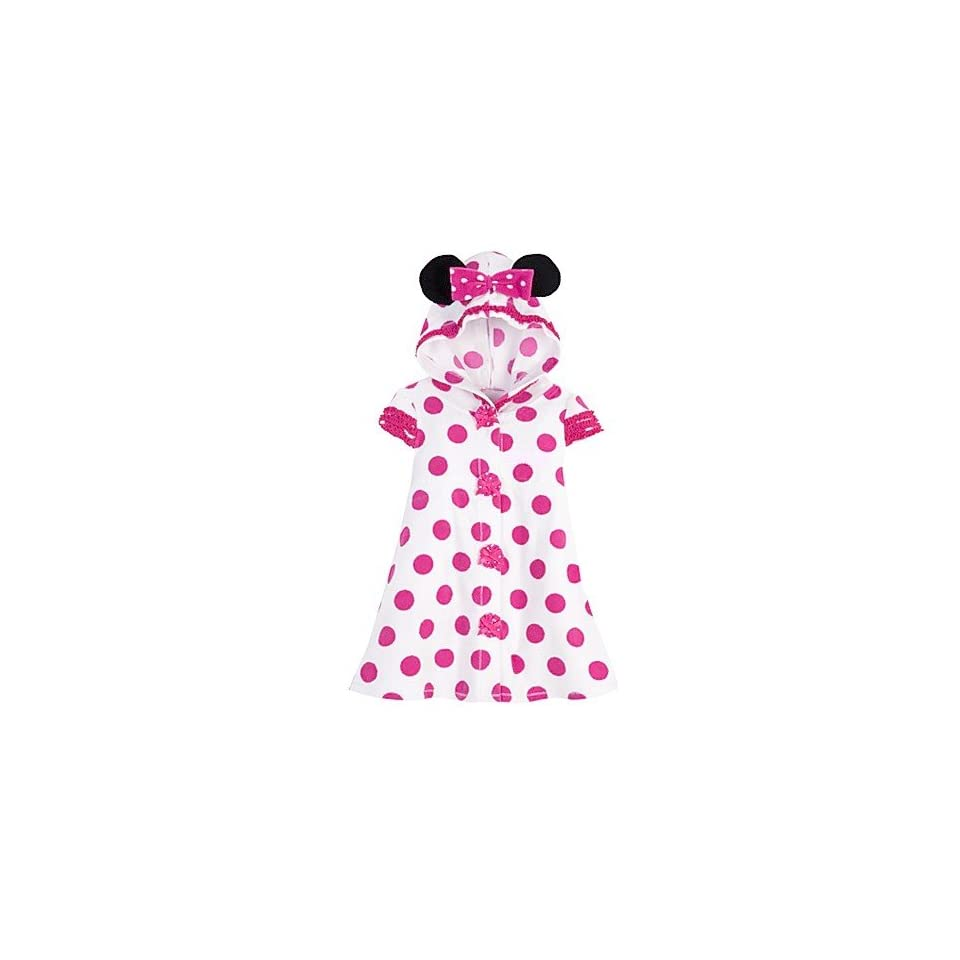 dec9dcecd73f Minnie Mouse Pink Polka Dot Terry Cloth Hooded Swimsuit Cover Up Hoodie  Pool Dress for Toddler Girls Size 4T