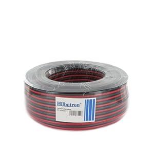 Hilbotron Lautsprecherkabel 4mm² 50m Rotchwarz 052 Eurom Hi 20