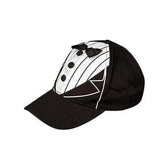 groom novelty baseball cap w tuxedo accents at