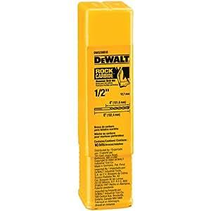 DEWALT DW5235B10 1/2-Inch by 6-Inch Carbide Hammer Drill Bit (10-pack)