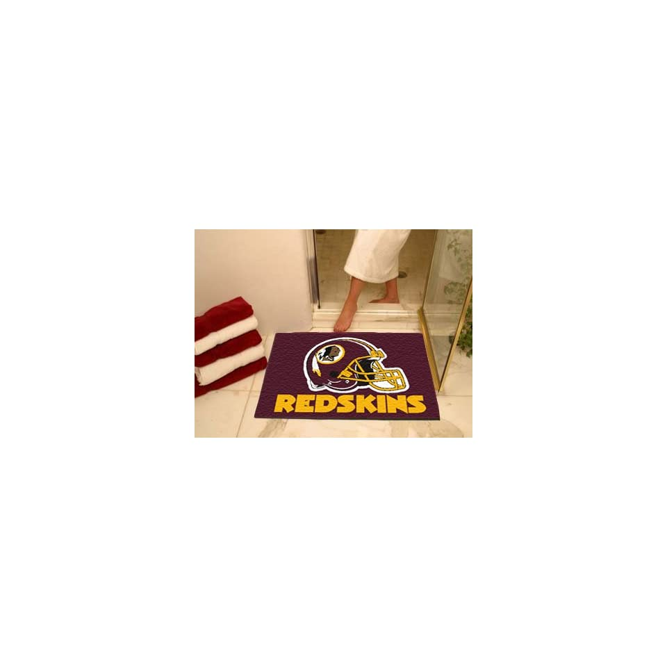 "NFL Washington Redskins Chromo Jet Printed Rectangular Area Rug Floor Mat 45""   Kitchen Mats"