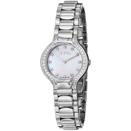 Ebel Women's 9003N18/991050 Beluga Mother-Of-Pearl Diamond Dial and Bezel Watch