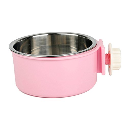 Guardians Stainless Steel Dog Bowl Removable Hanging Food Water Pets Cage Coop Cup Large Cat Puppy Birds Food Bowl with Bolt Holder (Dog Water Dispenser Steel compare prices)