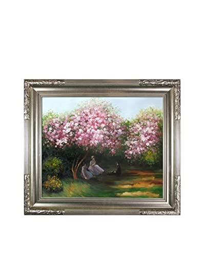 Claude Monet Resting Under The Lilacs Framed Hand-Painted Reproduction