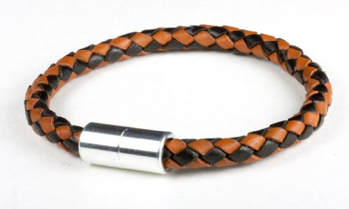 Suki PRO Braided Leather Magnet Therapy Bracelet
