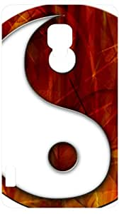 Yin Yang Martial Arts Symbol White Back Cover Case for LG Optimus L7 II P710