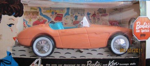 Barbie`s Own SPORTSCAR AUSTIN HEALEY Barbie & Ken Dolls FIRST SPORTS CAR (1962 IRWIN/Mattel)